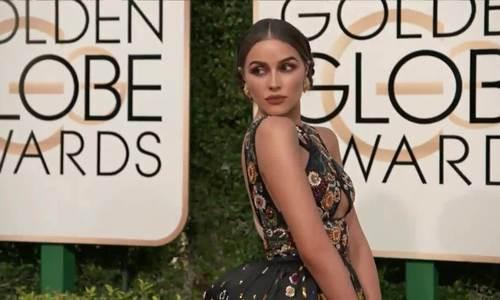 Olivia Culpo ở Quả Cầu Vàng 2017