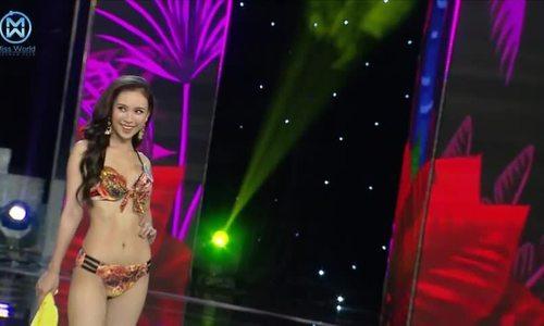 Thí sinh Hoa hậu Thế giới Việt Nam trình diễn bikini