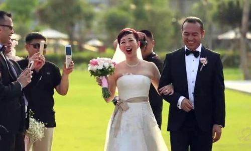 Á hậu Hong Kong Lương Bội Hồ ngày cưới