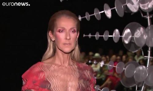 Celine Dion ở show Iris Van Herpen 2019