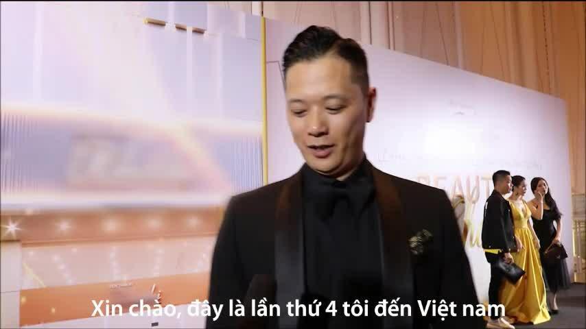 Chồng Hồ Hạnh Nhi dự sự kiện của hoa hậu Thu Hoài