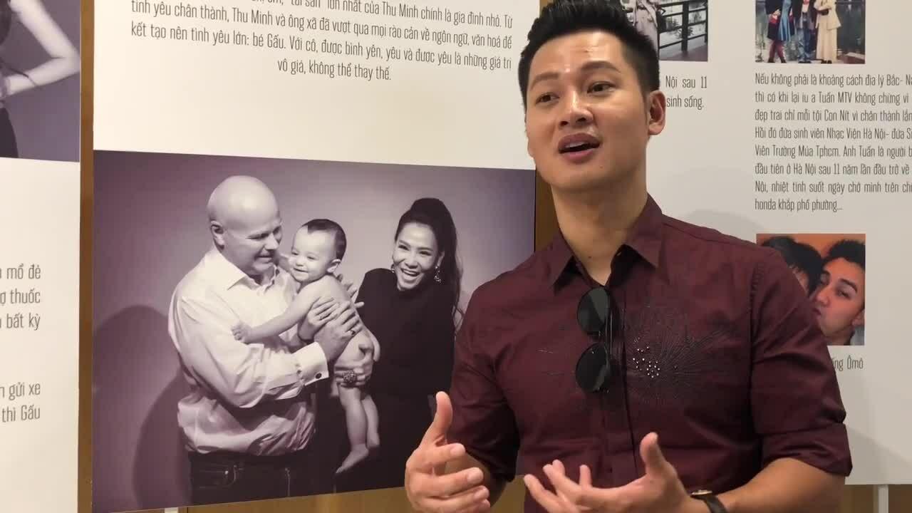 Nghệ sĩ đến tham quan triển lãm ảnh của Thu Minh