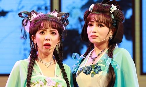Thu Trang khiến khán giả bật cười khi hát rớt nhịp trong tuồng 'Dương Quý Phi' tối 21/9