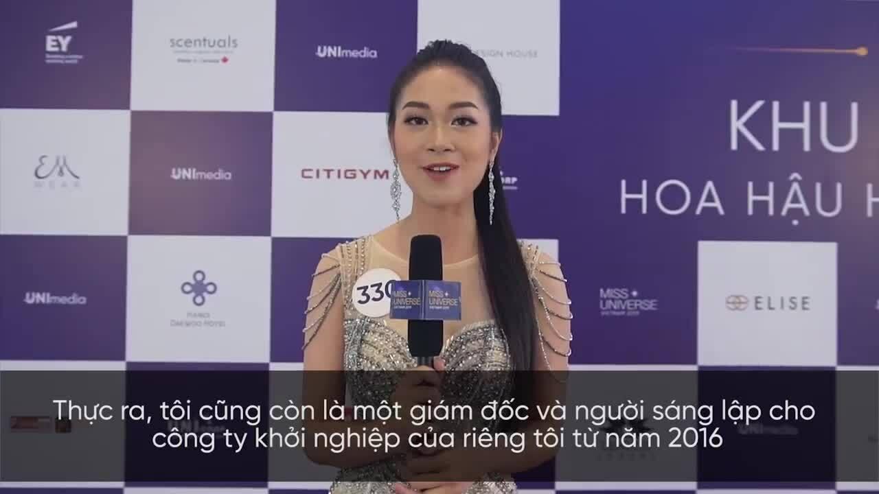 Vũ Quỳnh Trang nói tiếng Anh - Hoa hậu Hoàn vũ Việt Nam 2019