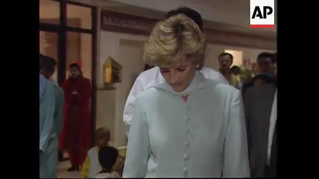 Công nương Diana đến Pakistan 1996