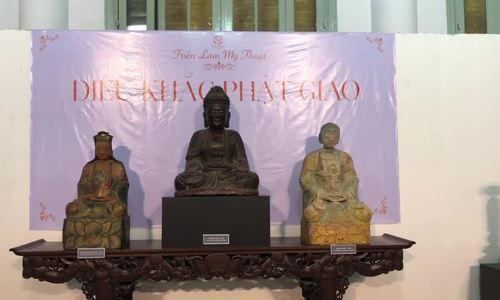 Triển lãm hơn 100 tượng phật cổ