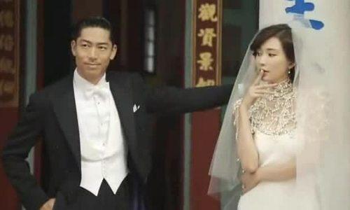 Vợ chồng Lâm Chí Linh chụp ảnh cưới ở đền