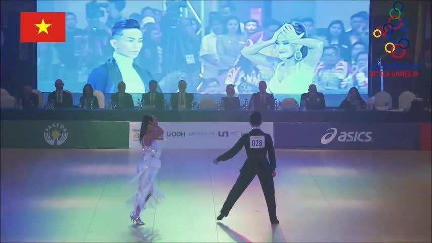 Phan Hiển đoạt huy chương vàngdancesport SEA Games 30