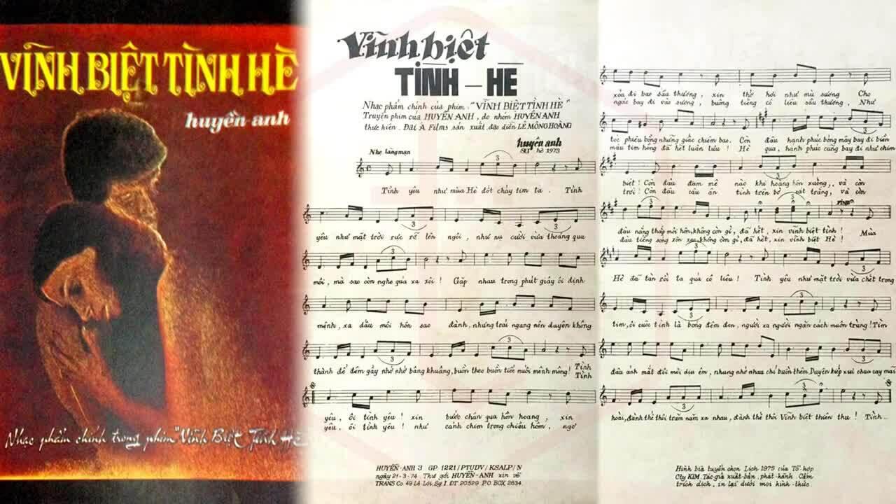 Ca khúc 'Vĩnh Biệt Tình Hè' (Huyền Anh) - Nguyễn Chánh Tín