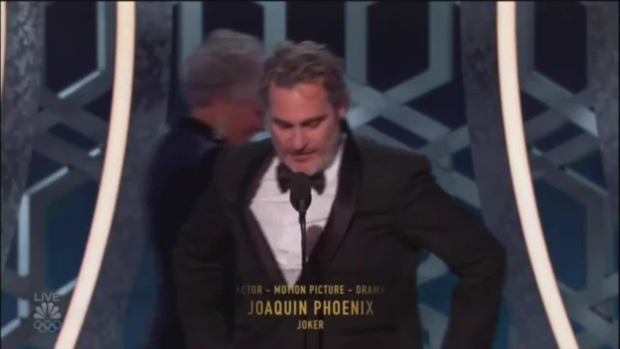 Joaquin Phoenix quả cầu vàng (reup)