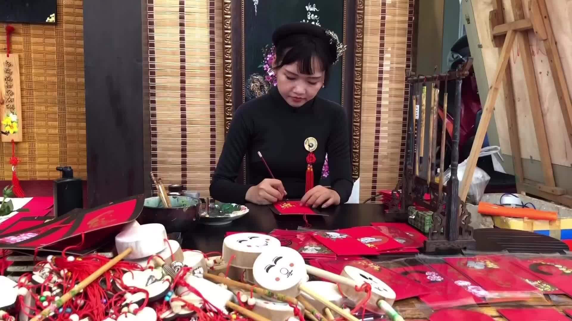 Tái hiện làng nghề ở lễ hội Tết Việt