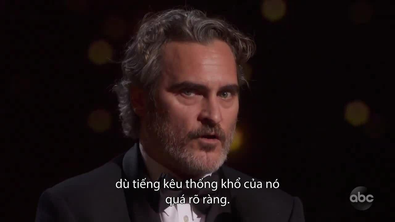 Joaquin Phoenix nói về nỗi đau của động vật