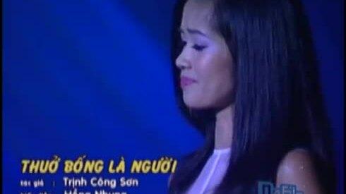 Hồng Nhung hát 'Thuở bống là người'