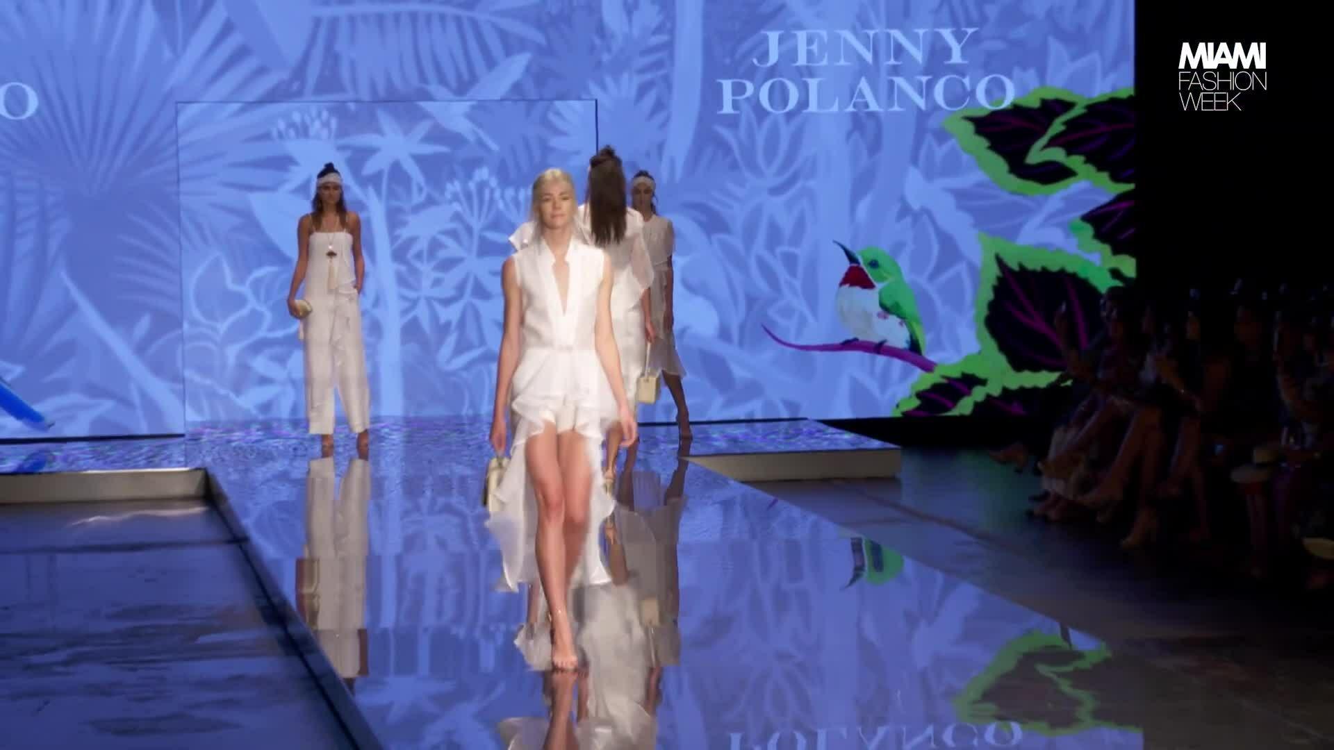 Jenny Polanco trình diễn bộ sưu tập tại tuần lễ thời trang Miami