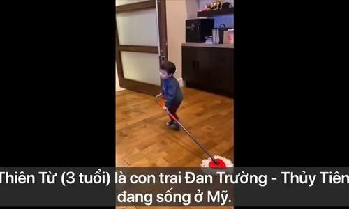Sao Việt chơi đùa, dạy con làm việc nhàmùa dịch