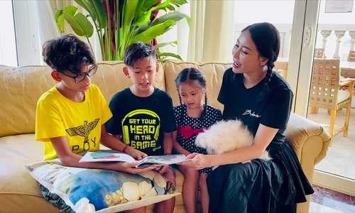 Một ngày ở nhà tránh dịch của mẹ con Hà Kiều Anh