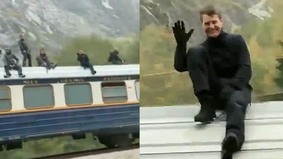 Tom Cruise đóng hành động trên nóc tàu hỏa