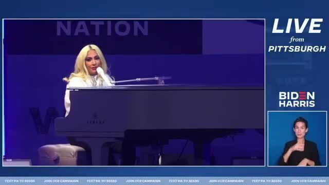 Lady Gaga - You and I tại sự kiện của Joe Biden