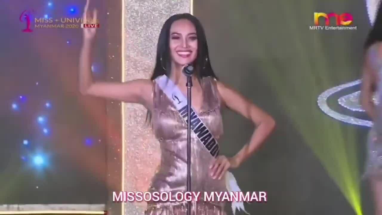 Han Lay tại Hoa hậu Hoàn vũ Myanmar 2020
