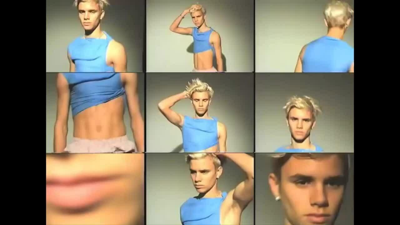 Hậu trường Romeo Beckham chụp hình thời trang