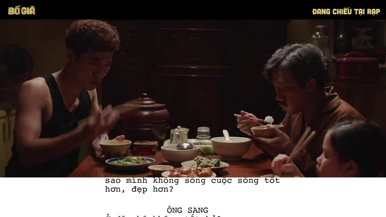 Cảnh tranh cãi dài bốn phút của Trấn Thành trong 'Bố già'