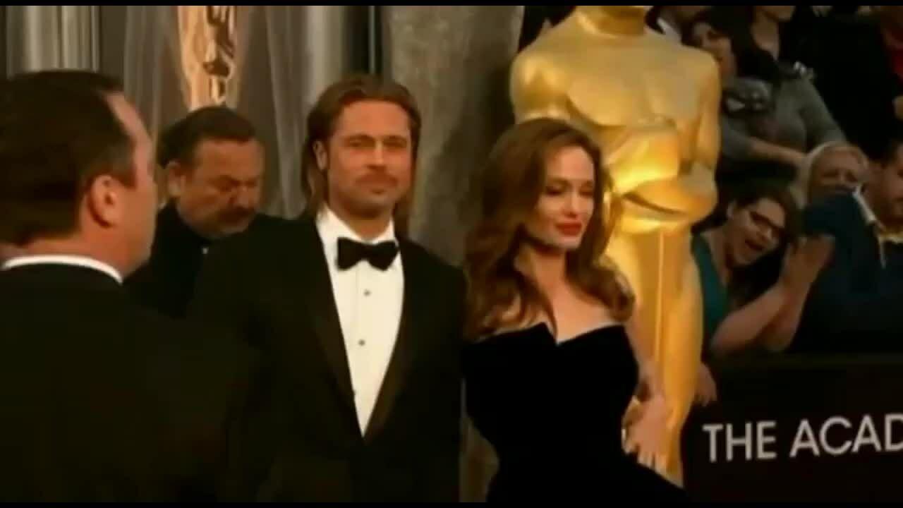Brad Pitt và Angelina Jolie ở Oscar 2012