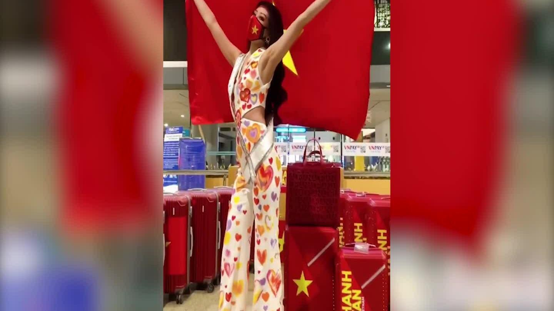 Khánh Vân lên đường thi Miss Universe