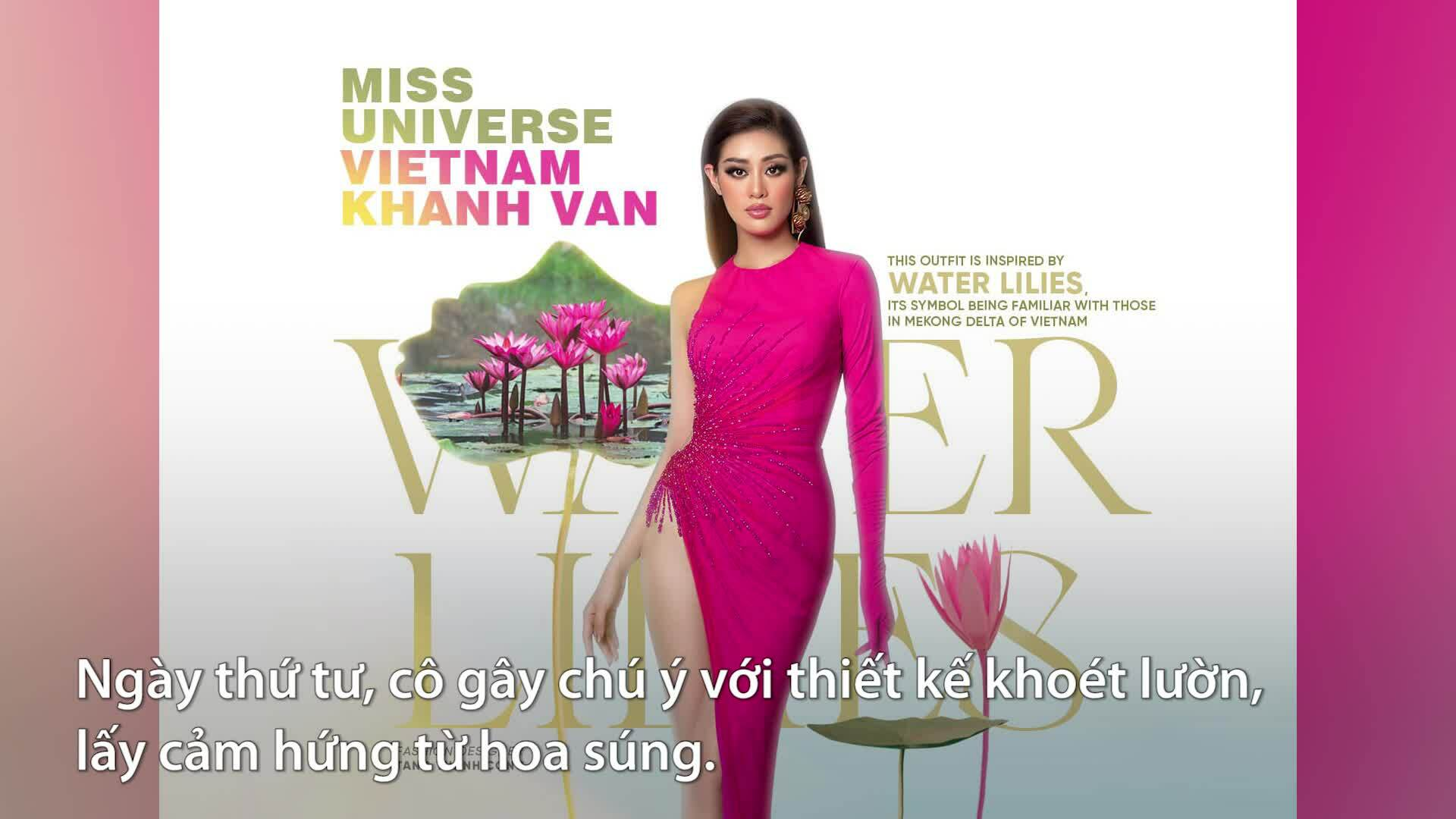 Khánh Vân gây chú ý trong năm ngày đầu thi Miss Universe