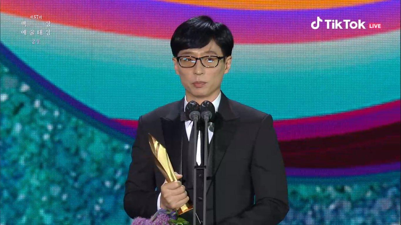 Yoo Jae Suk, Yoo Ah In thắng giải Baeksang