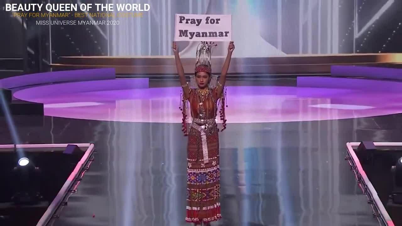 Đại diện Myanmar thắng Trang phục dân tộc