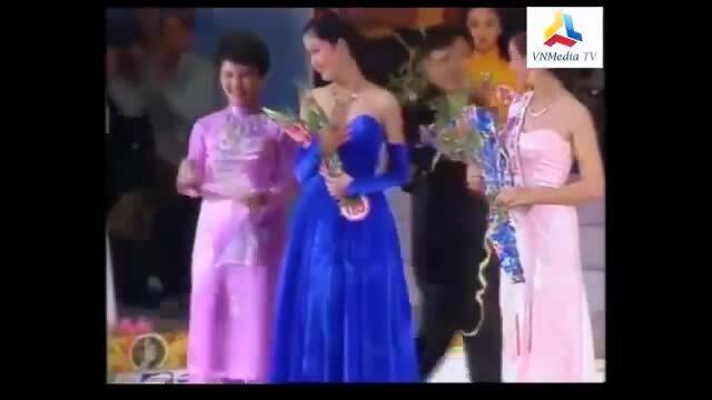 Giây phút Thu Thủy đăng quang Hoa hậu Việt Nam 1994