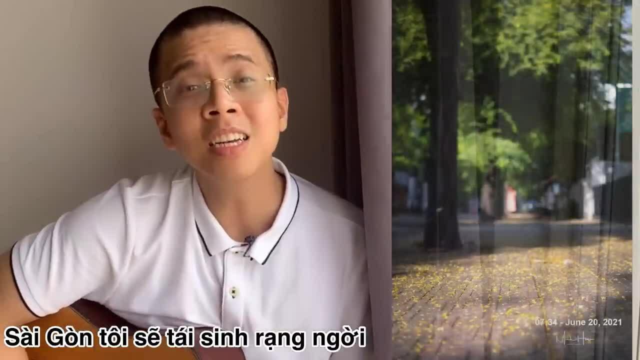 Thầy giáo hát cổ vũ Sài Gòn chống dịch