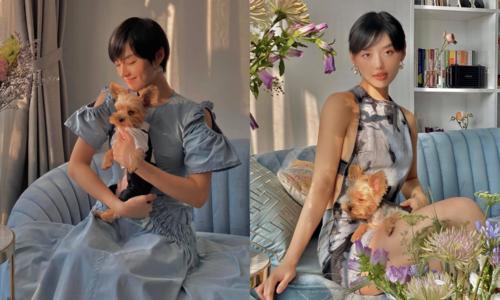Khánh Linh catwalk với trang phục phong cách cổ điển