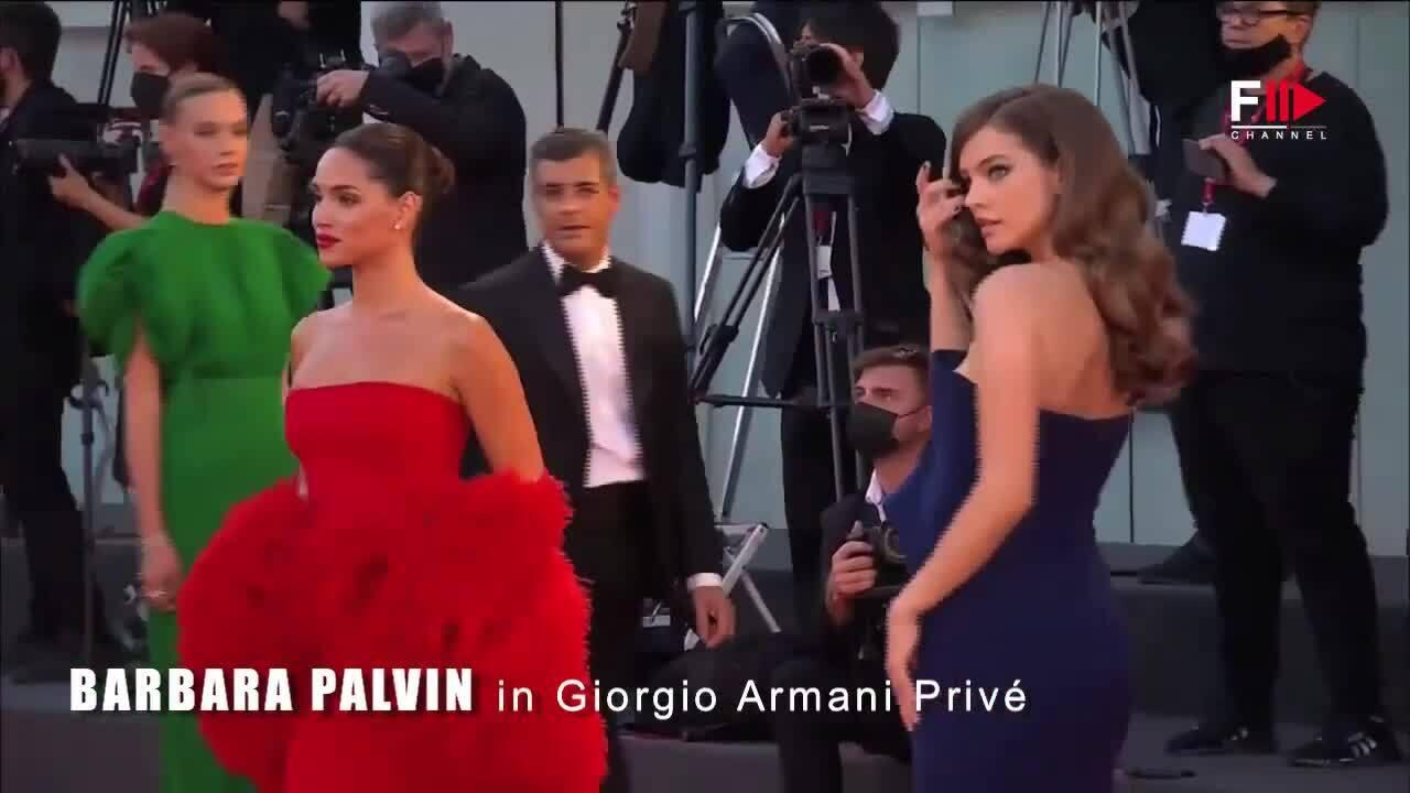 Các mỹ nhân diện đầm Armani ở Venice 2021