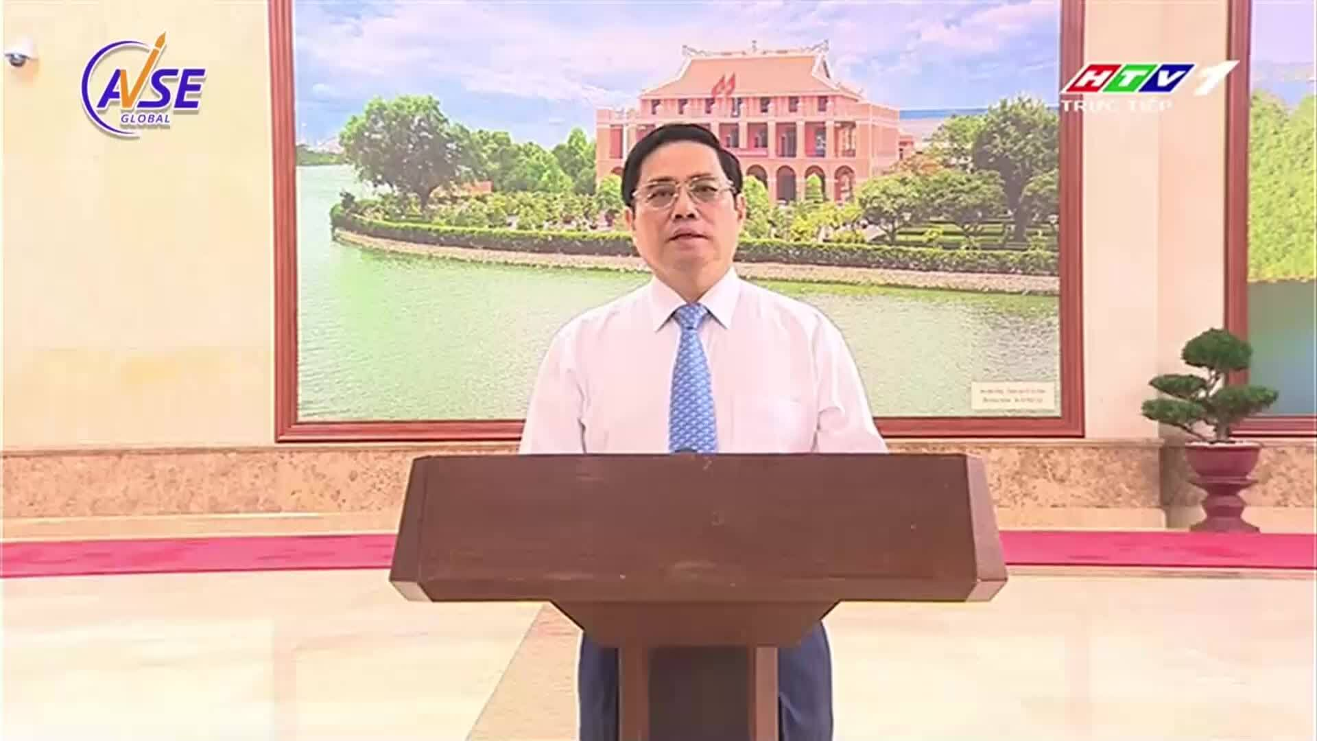 Thủ tướng Phạm Minh Chính phát biểu trong show Nối vòng tay lớn