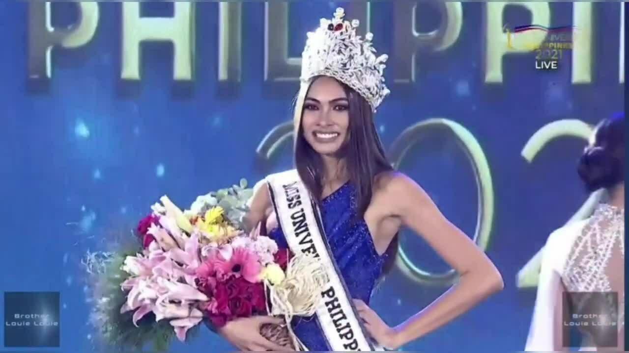 Khoảnh khắc đăng quang Hoa hậu Hoàn vũ Philippines 2021