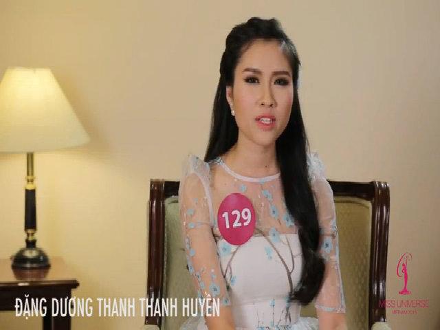 Hoa hậu Hoàn vũ Việt Nam 2015 - phỏng vấn Đặng Dương Thanh Thanh Huyền