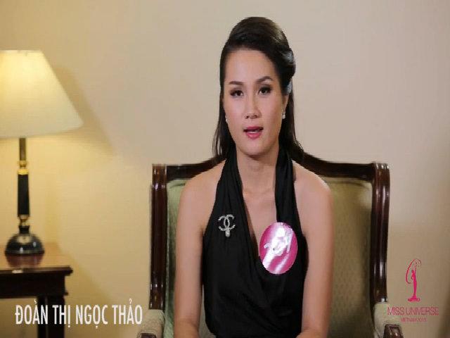 Hoa hậu Hoàn vũ Việt Nam 2015 - phỏng vấn Đoàn Thị Ngọc Thảo