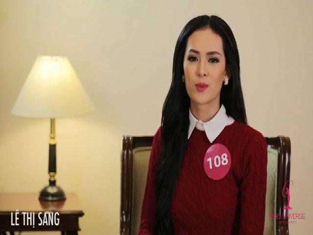 Hoa hậu Hoàn vũ Việt Nam 2015 - phỏng vấn Lê Thị Sang