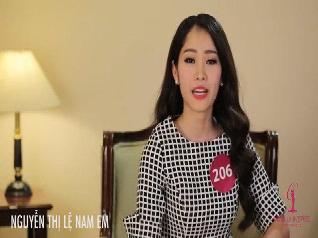 Hoa hậu Hoàn vũ Việt Nam 2015 - phỏng vấn Nguyễn Thị Lệ Nam Em