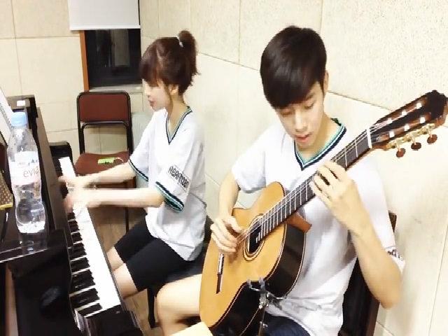 Video hợp tấu piano - guitar của cặp đôi nổi tiếng xứ Hàn