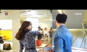 Hậu trường vui nhộn cảnh Han Hyo Joo tát Lee Jong Suk trong W