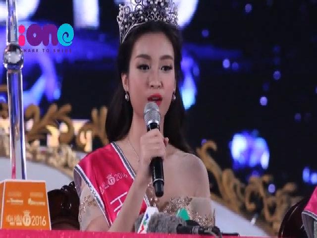 Hoa hậu Mỹ Linh đối mặt với bình luận trái chiều