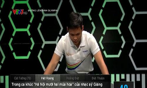 Phần thi Khởi Động của Việt Hoàng