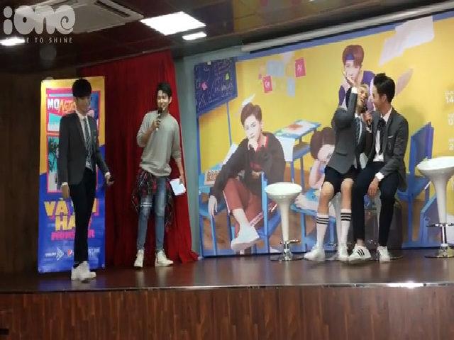 Monstar diễn kịch 'đánh ghen' tại fan meeting