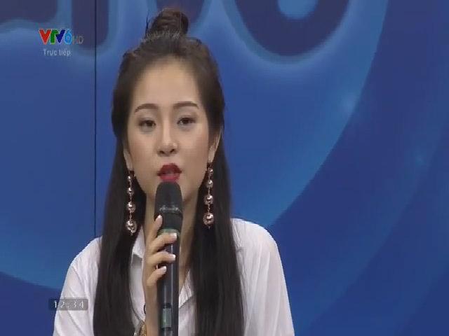 Tam Triều Dâng lần đầu khoe giọng trên sóng truyền hình