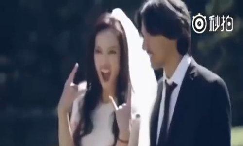 Clip quá trình Thư Kỳ và Phùng Đức Luân chụp ảnh cưới
