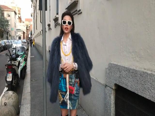 Kỳ Duyên nói tiếng Anh khi dự Milan Fashion Week