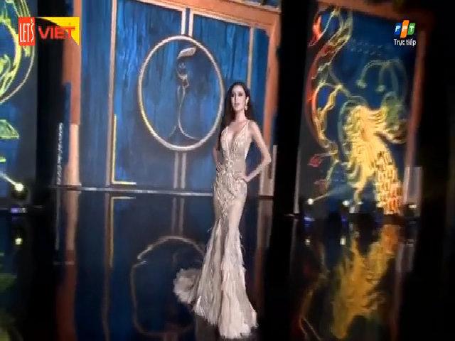 Huyền My trang điểm kém xinh 'đi tong' cả bộ cánh đẹp trong đêm Bán kết Hoa hậu