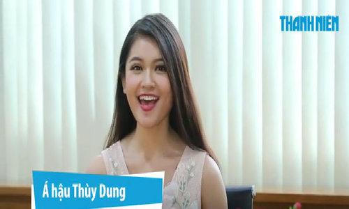 Thùy Dung nói tiếng Anh
